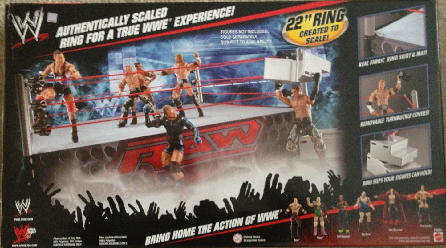 Toys R Us Wwe Rings : Wwe wrestling ring playset elimination chamber